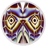 Magic Owl Round Beach Towel