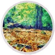 Magic Stone Circle Round Beach Towel