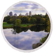 Magical 1 - Central Park - New York Round Beach Towel
