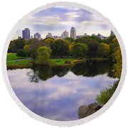 Magical 2 - Central Park - Nyc Round Beach Towel