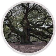 Magical Angel Oak Round Beach Towel