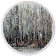 Magical Bayou Round Beach Towel