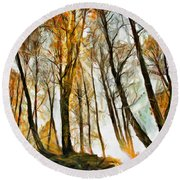 Magical Forest - Drawing Round Beach Towel