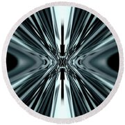 Magical Hypnotic Exit To Unknown Round Beach Towel
