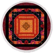 Magical Rune Mandala Round Beach Towel