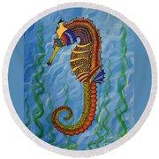 Magical Seahorse Round Beach Towel