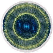 Magical Seal Of The Sea Round Beach Towel