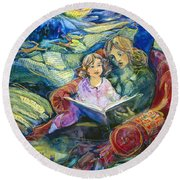 Magical Storybook Round Beach Towel by Jen Norton