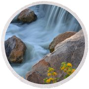 Magical Waters Round Beach Towel