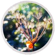 Magical Woodland - Impressions Round Beach Towel
