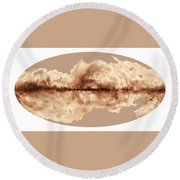 Magnetic Field Of Milky Way Galaxy Round Beach Towel
