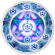 Magnetic Fluid Harmony Banner Round Beach Towel