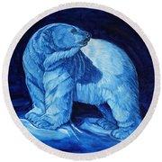 Polar Bear Art Blue Prince Lord Of The North Round Beach Towel