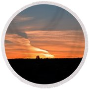 Magnificant Sky Round Beach Towel