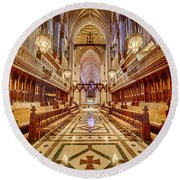 Magnificent Cathedral Iv Round Beach Towel