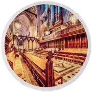 Magnificent Cathedral Round Beach Towel