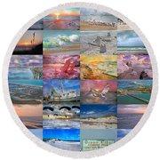 Magnificent Coastal North Carolina Round Beach Towel