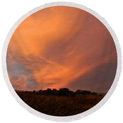 Magnificent Evening Round Beach Towel