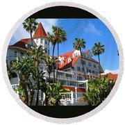Magnificent Hotel Del Round Beach Towel