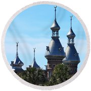 Magnificent Minarets Round Beach Towel