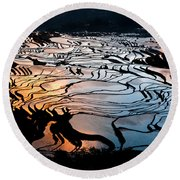 Magnificent Rice Terrace Round Beach Towel