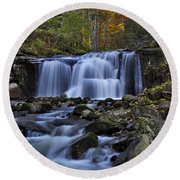 Magnificent Waterfall Round Beach Towel