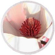 Magnolia Blossom - Square Format Round Beach Towel