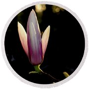 Magnolia Candle Round Beach Towel