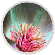 Magnolia Flower - Photopower 1843 Round Beach Towel