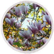 Magnolia Maidens In A Border Round Beach Towel