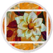 Magnolia Seduction Round Beach Towel