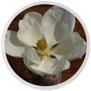 Magnolia Still 1 Round Beach Towel