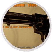 Magnum Force Custom Round Beach Towel by Movie Poster Prints