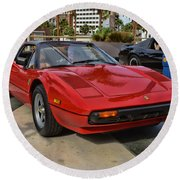 Magnum Pi Round Beach Towel by Tommy Anderson