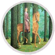 Magritte's The Blank Signature Round Beach Towel