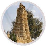 Maharaja's Palace India Mysore Round Beach Towel