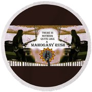 Mahogany Rush Art Round Beach Towel