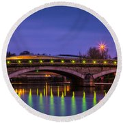 Maidstone Bridge Round Beach Towel