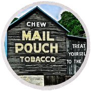 Mail Pouch Chew Round Beach Towel