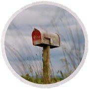 Mailbox Round Beach Towel