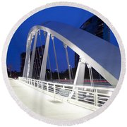 Main Street Bridge Round Beach Towel