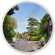 Main Street -ticknall Village Round Beach Towel