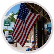 Main Street Usa Round Beach Towel