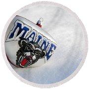 Maine Black Bears Ornament Round Beach Towel