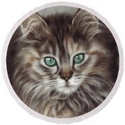 Maine Coon Round Beach Towel