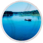 Maine Round Beach Towel