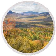 Maine Mountains In Fall Mount Blue State Park  Round Beach Towel