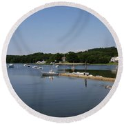 Maine Seascape Round Beach Towel