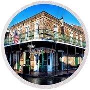 Maison Bourbon - New Orleans Round Beach Towel