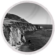 Majestic Coast Round Beach Towel